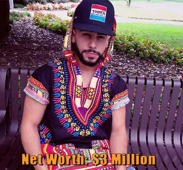 Image of Youtuber, Adam Saleh net worth is $3 million