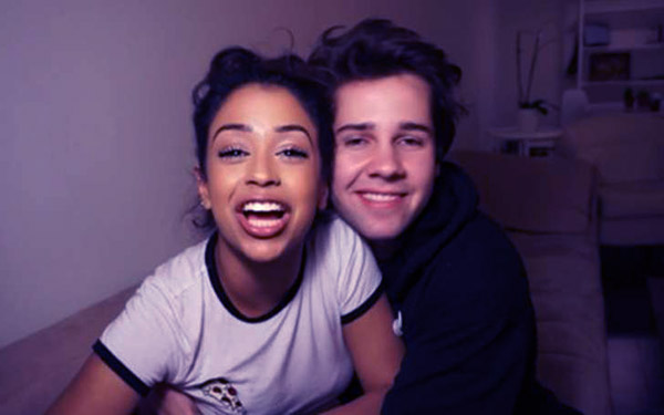 Image of David Debrok with his ex- girlfriend Liza Koshy