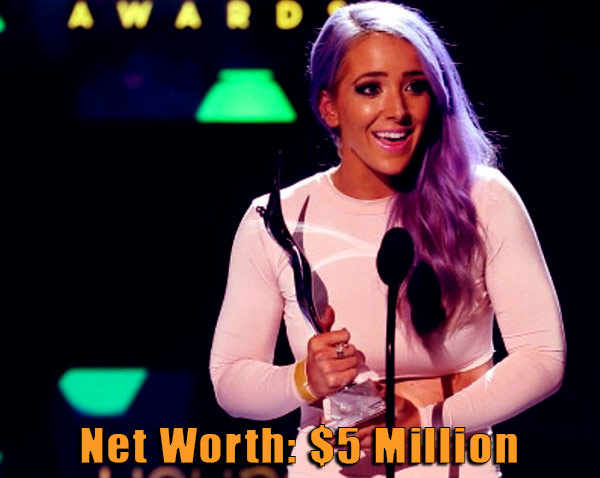 Image of Blogger, Jenna Marbles net worth is $5 million