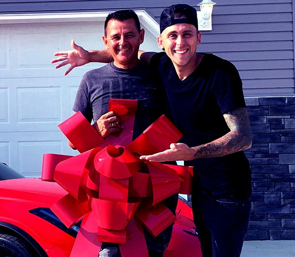 Image of Roman Atwood with his father Curtis Dale Atwood