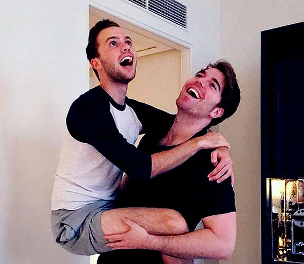 Image of Shane Dawson with his boyfriend Ryland Adams