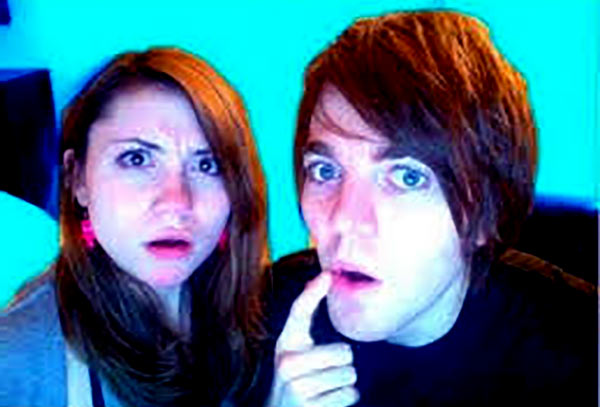 Image of Shane Dawson with Nadine Sykora