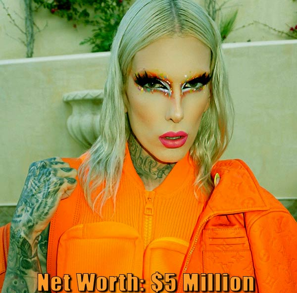 Image of American Internet celebrity, Jeffree Star net worth is $5 million