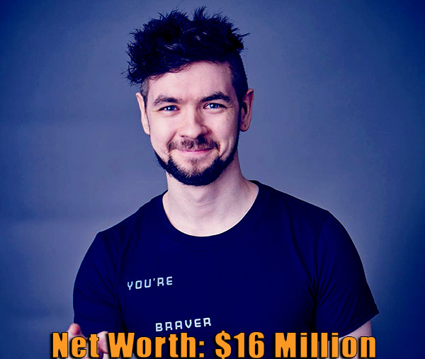 Image of Irish YouTuber, Jacksepticeye net worth is $16 million