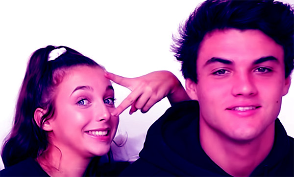 Image of Ethan Dolan with his ex-girlfriend Emma Chamberlain