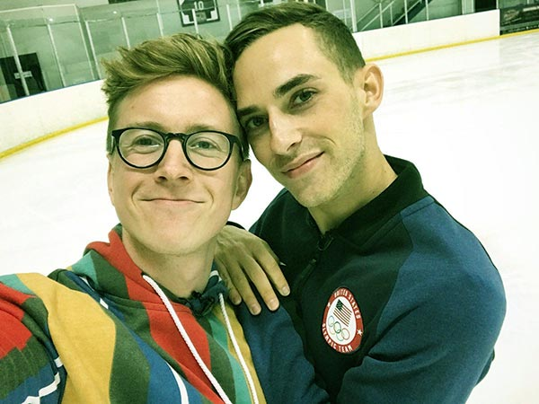 Image of Tyler Oakley with his long time boyfriend Adam Rippon