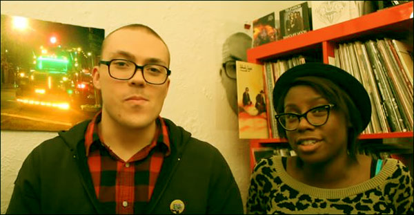 Image of Anthony Fantano with his wife Dominique Boxler
