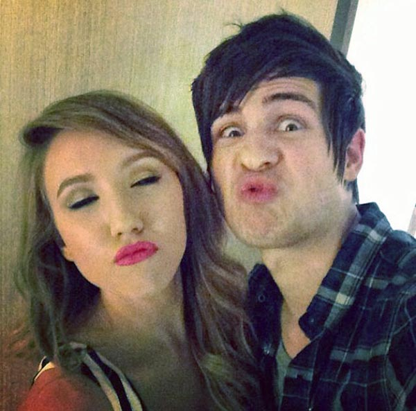 Image of Anthony Padilla with his ex-girlfriend Kalel Smith