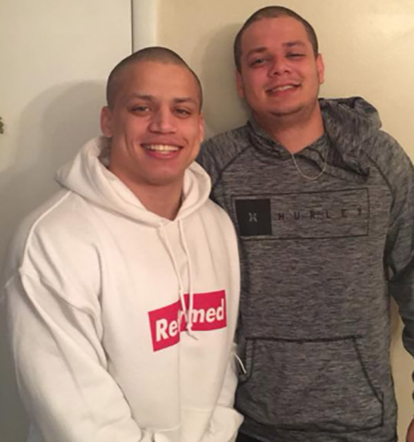 Image of Tyler1 with his brother Eric